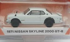 Greenlight 1/64 . Nissan Skyline 2000 gt-r blanc  Neuf en boite