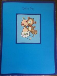 Baby Boy Birth Announcement Sheeted Pad - Baby Boy! - 20 Sheets