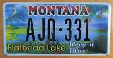 Montana 2006 FLATHEAD LAKE KEEP IT BLUE GRAPHIC License Plate # AJQ-331