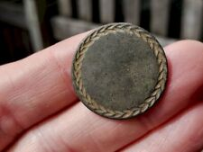 Rev War Dug - Tombac Military Style Broad Arrows Edge Designed Button
