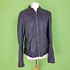 ARMA Womens 100% Leather Jacket Biker Style UK 18 Fitted
