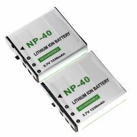 Battery 2PACK for Ordro DDV-5600HD DDV-V8 DDVV8 PLUS HDV-A20 HDV-D328 HDV-Z25