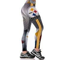 Women Fitness Leggings Team Pittsburgh Steelers Sport 3D Yoga Pants Gym Training