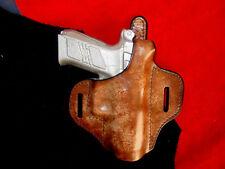CZ 75 PO 7  thumb break holster burnish brown leather Kwik & Free