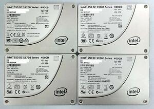 """4 x Used INTEL DC S3700 400GB 2.5"""" SATA SSD SSDSC2BA400G3 Solid State Drive"""