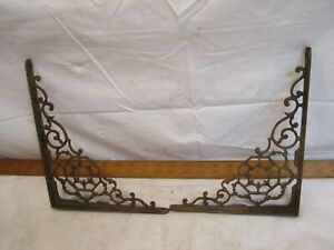Vintage Cast Iron Ornate Shelf Brackets Victorian Home Decor Architectural