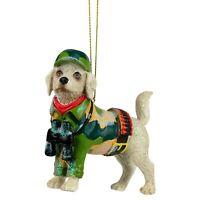 Army Labrador Dog Design Hanging Christmas Tree Ornament