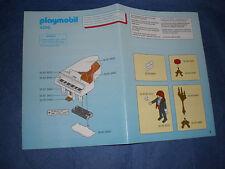 PLAYMOBIL 4309 pianoforte giocatori edifici instruction piano only piano solo il piano