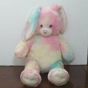 "Build A Bear Pastel Rainbow  Bunny Rabbit Plush 16"""