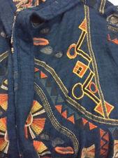 Biya by Johnny Was Sesmas Long  Embroidered Hoodie Jacket #B50717 New Boho Chic