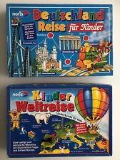 2 X NORIS Spiele/ Kinder -Weltreise / Deutschland Reise Für Kinder / Ab 6 Jahre