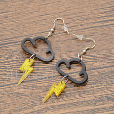 Women Sweet Cloud Yellow Lightning Earrings Studs Acrylic Drop Party Statement
