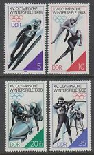 DDR East Germany 1988 ** Mi.3140/43 Olympische Spiele Olympic Games Skispringen