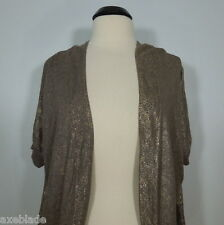 H & M Women's Open Cardigan Sweater, Shimmer Gold size M