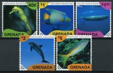 Grenada Marine Life Stamps 2020 MNH Definitives Fish Seahorses Dolphins 5v Set