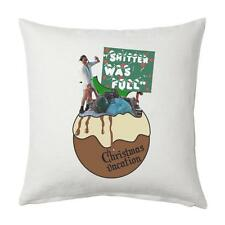 "Lampoons CHRISTMAS VACATION - ""Shi**er was full"" quote - White cushion cover"