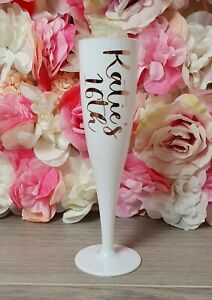 Personalised Reusuable Birthday 18th, 21st, 30th, 40th, Black/White Flutes