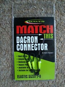 New Maver Match This Pole Elastic Dacron Connectors small size elastics 1 - 6