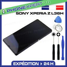 ECRAN LCD + VITRE TACTILE SUR CHASSIS SONY XPERIA Z L36H NOIR SANS LOGO + OUTILS