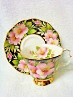 Royal Albert Provincial Flowers Alberta Rose  Cup and Saucer