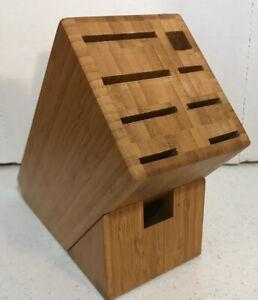 Bamboo Storage Knife  Block 8 Slot EUC
