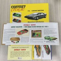 SUIT COFFRET CADEAU 1/43 ATLAS DINKY TOYS 1426 CARABO BERTONE CAR MODEL 2PCS