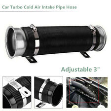 "3"" Universal Car Extendable Turbo Cold Air Intake Pipe Hose Tube Adjustable Wash"