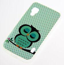 LG Optimus L5 II E450 E460 Silikon Case Schutz Hülle Baum Eule Owl Etui Cover