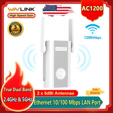 Wavlink 1200Mbps WiFi Repeater & Wireless Range Extender Dual Band High Gain WPS