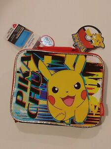 Pikachu Pokemon Thermos Insulated Lunch Box Pokemon Lunch Bag