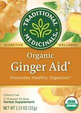 TEA ORGANIC GINGER AID, Traditional Medicinals, INDIGESTION (16 bags x 1 box)