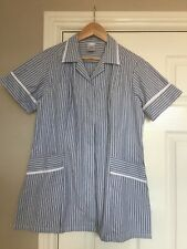 BNWT Alexandra H350 Women's Very Smart Tunic In Grey And Blue Stripes Size 14