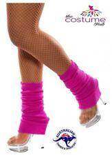 Classic Hot Pink 80s Neon Leg Warmers Disco Dance Fame