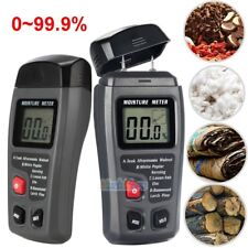 LCD Display Digital Wood Moisture Meter Humidity Tester 2 Pins Probes 0-99.9% US