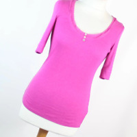 Marks & Spencer Pink Cotton Blend Womens Basic tee Size 12