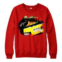Ayrton Senna Jumper, Ayrton Senna Tribute F1 Racing Adults & Kids Jumper Top