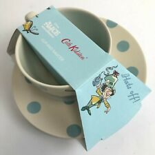 """New Royal Stafford for Cath Kidston 4"""" Cup 7.5"""" Saucer Beige Blue Kitchen 182170"""