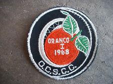 vintage 1968 ORANCO I OCSCC sports car club racing rally patch