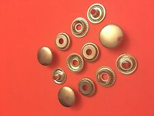 "25 Set 15 mm ( 5/8"" ) Poppers Snap Fastener Ring Socket Solid Brass"