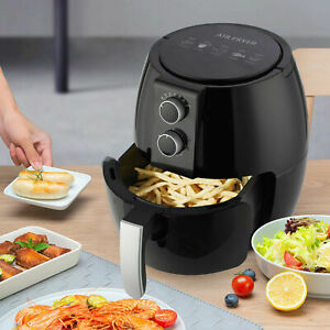 UK 4.5L Air Fryer Cooker Oven Low Fat Healthy Oil free Frying Kitchen Non-stick