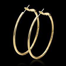 Ohrringe Ohrstecker Creolen XL Gelbgold 750er 18K vergoldet  glänzend poliert
