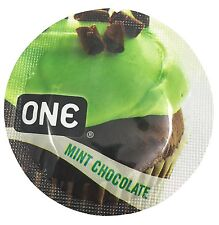 ONE Mint Chocolate + Silver Pocket Case, Flavored Lubricated Latex Condoms