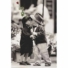 KIM ANDERSON - THE FIRST KISS POSTER - 24x36 SHRINK WRAPPED ROSE CUTE KIDS 3773