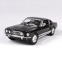 Maisto 1:18th Black Ford 1967 Mustang GTA Fastblack Cars Models Collection Toys