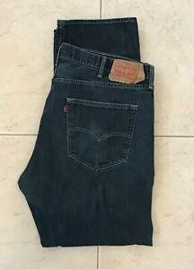 Levi's 501 Button-Fly Classic Fit Men's Blue Jeans size 42 x 32 (41x31)