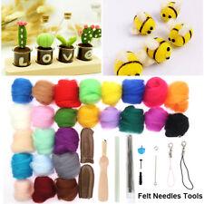 25 Colour DIY Wool Needles Felt Tool Set + Needle Felting Mat Starter Kit Craft