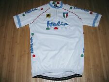 Sportful Cycle Jersey Shirt Size Xl Polyester Bike Bicycle White with Italia