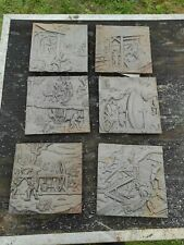 Coal Mining Scenes From Agricola Cast Iron Plaques