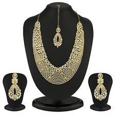 Sukkhi - Kritika Kamra Dazzling Gold Plated Australian Diamond Wedding Necklace