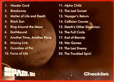 SPACE 1999 - Card #53 - Checklist - Unstoppable Cards Ltd 2015